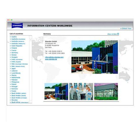 Webseite Standox